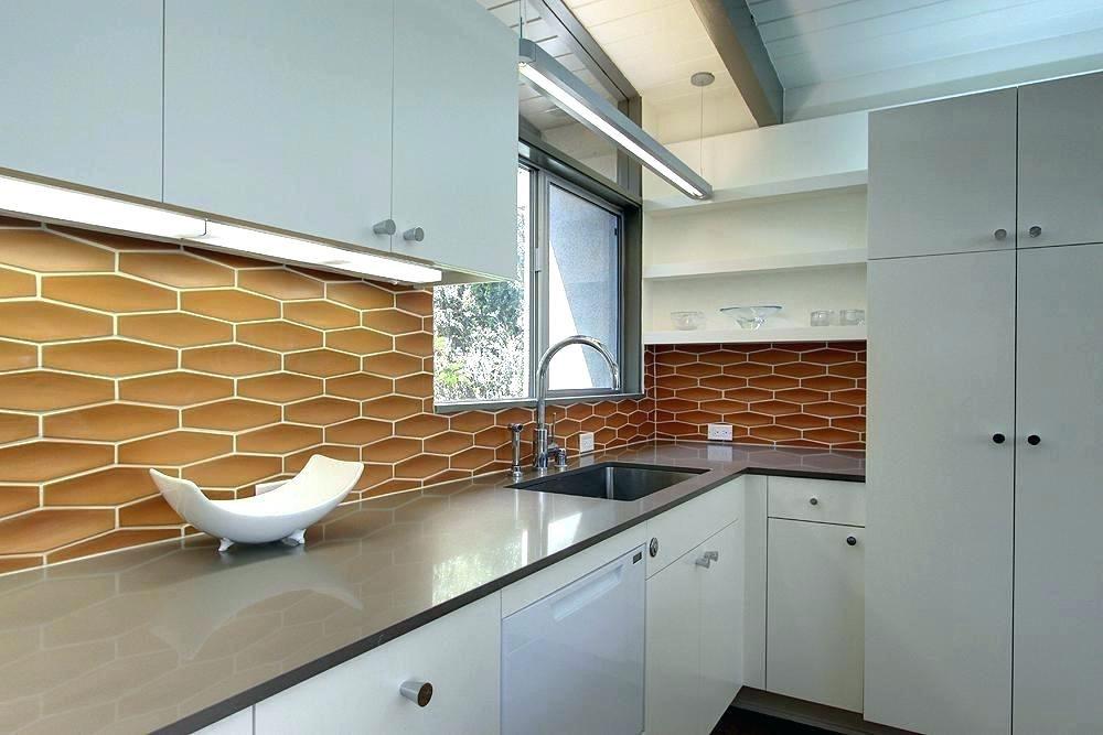 Image Result For Mid Century Modern Kitchen Glass Tile Backsplash