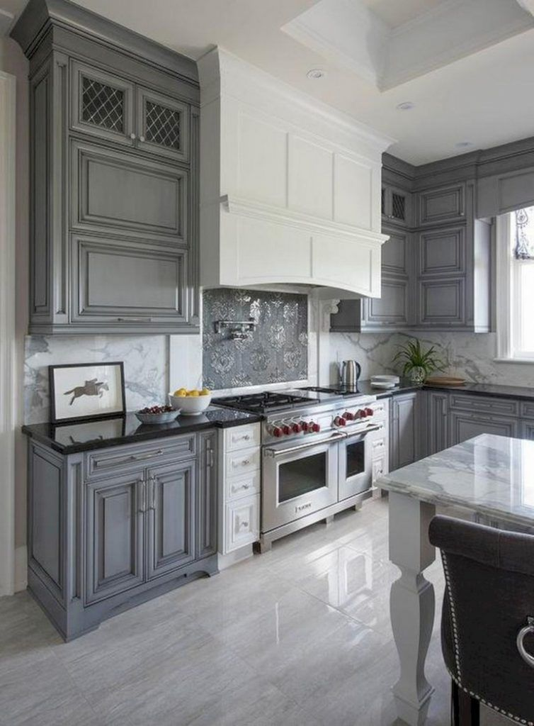 42 lovely gray kitchen cabinets design ideas kitchen cabinet design grey kitchen cabinets on kitchen decor grey cabinets id=15240