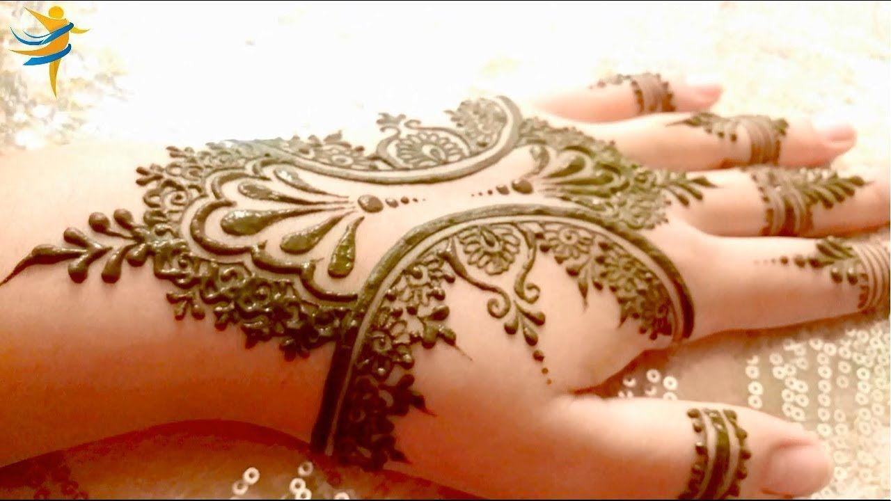Easy Arabic Stylish Mehndi Design Step By Step Simple Mehndi Design نقش حناء للعرائس Simple Mehndi Designs Mehndi Designs Stylish Mehndi