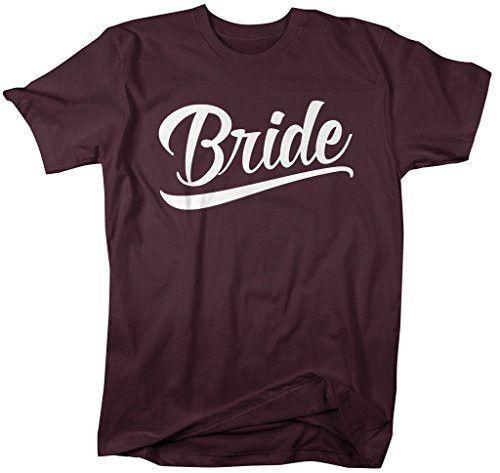 Shirts By Sarah Women's Unisex Bride T-Shirt Wedding Shirt
