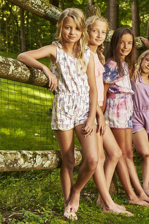 EGG New York Bree Girls Shorts Romper - Palm Print