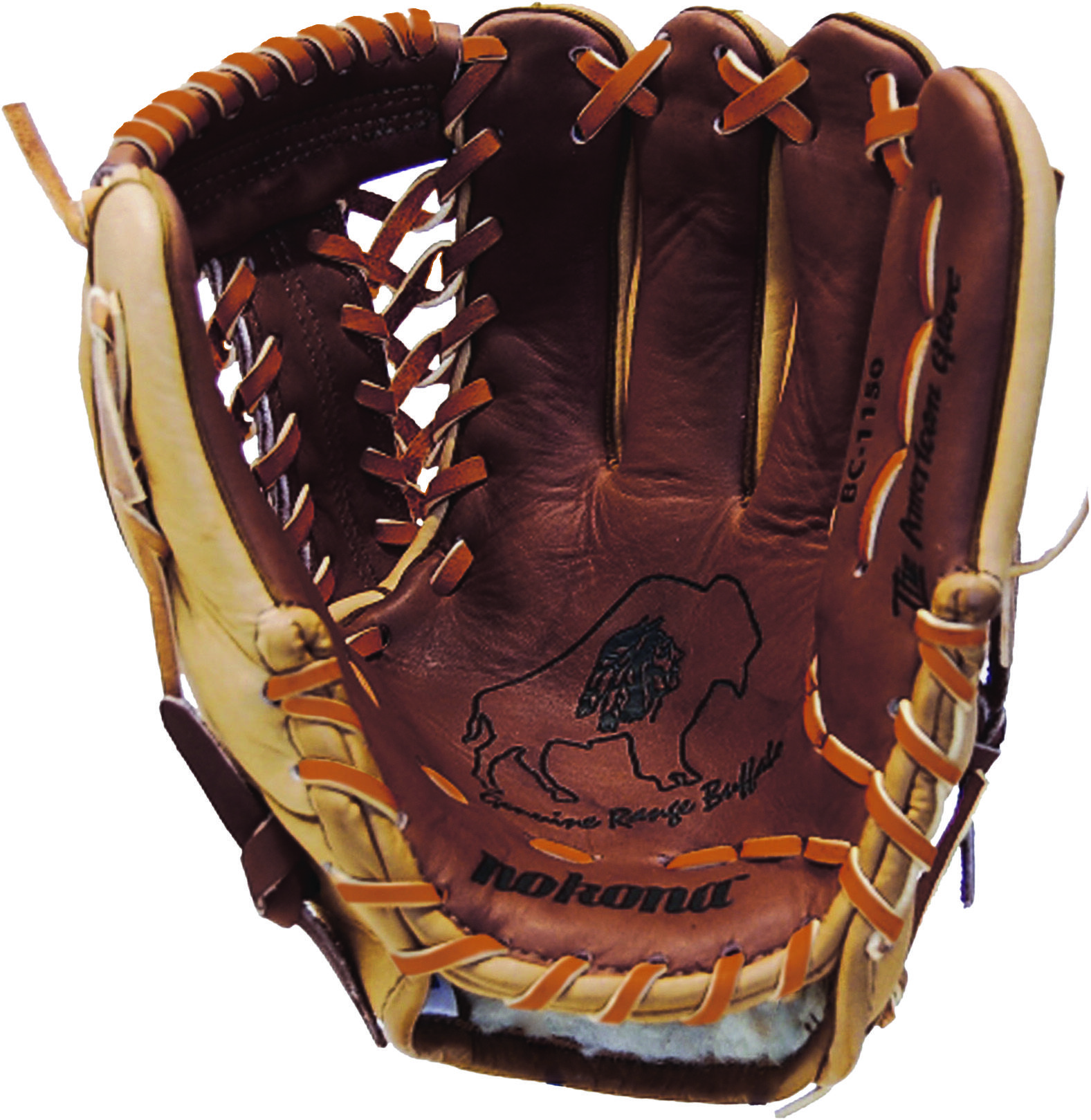 Nokona Buffalo Combo 11 5 Baseball Glove Brown Right Hand Throw Ebay Bison Leather Baseball Glove Gloves
