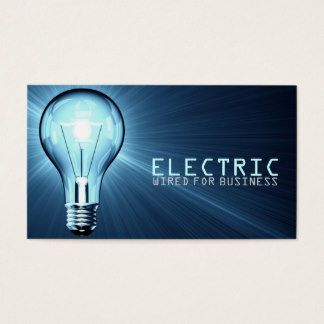 Electrician business cards templates zazzle heating electrician business cards templates zazzle reheart Images
