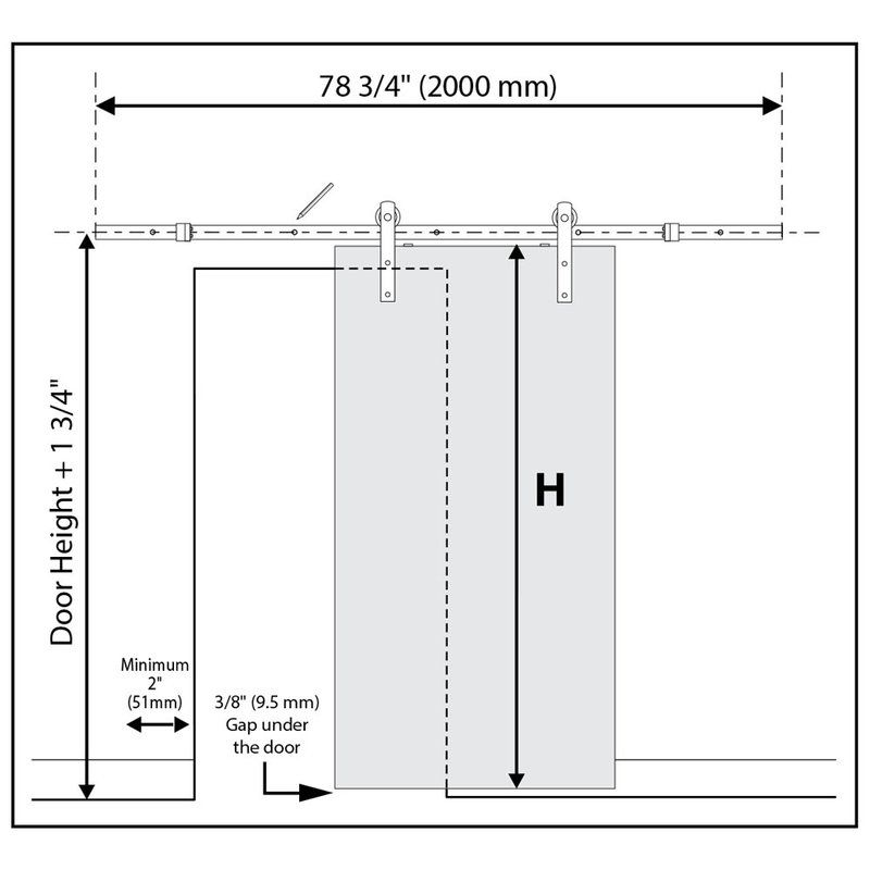 Paneled Manufactured Wood Primed K Plank Barn Door With Installation Hardware Kit Barn Door Hardware Double Sliding Barn Doors Sliding Door Track