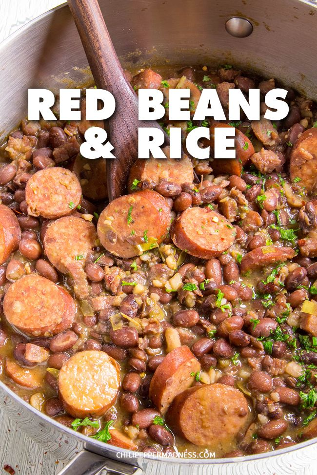 Cajun Red Beans and Rice with Andouille #cajundishes