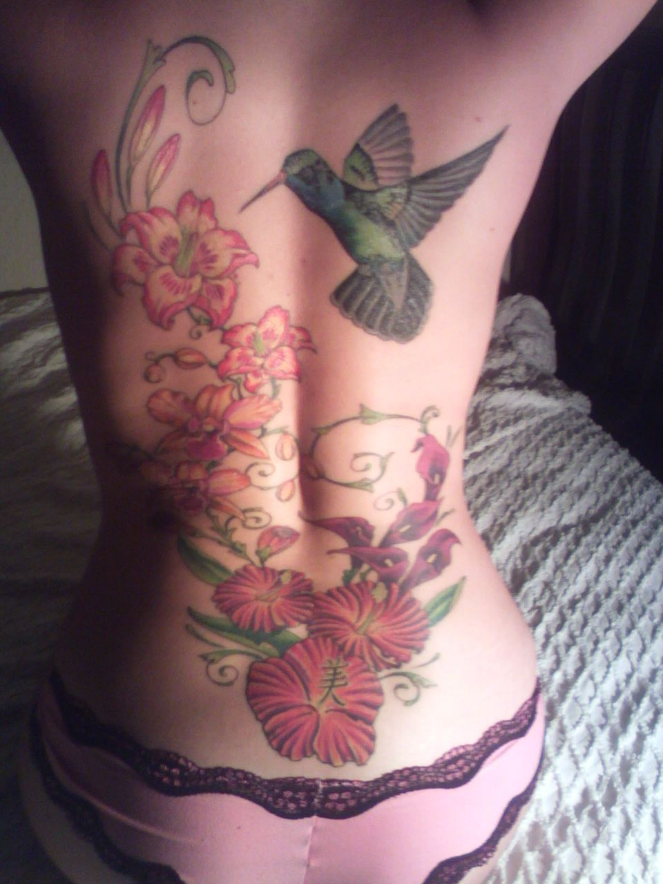 Hummingbird and Flower Tattoos Hummingbird Tattoos With