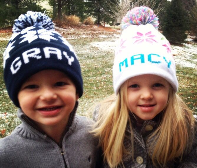 a39587f6c860c Personalized stocking caps hats for kids!  sponsored