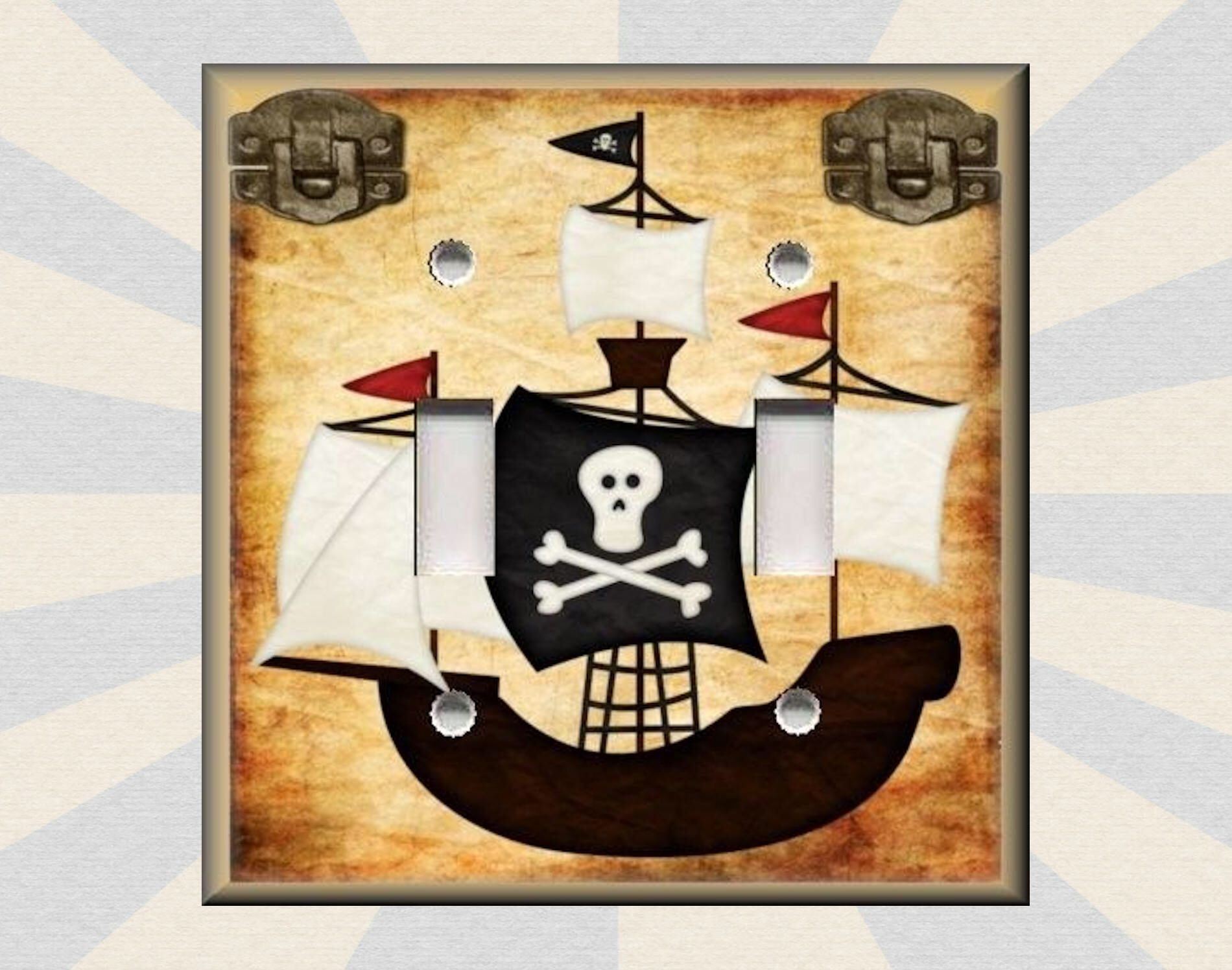 Metal Light Switch Plate Cover - Pirate Ship Home Decor Pirate Decor ...