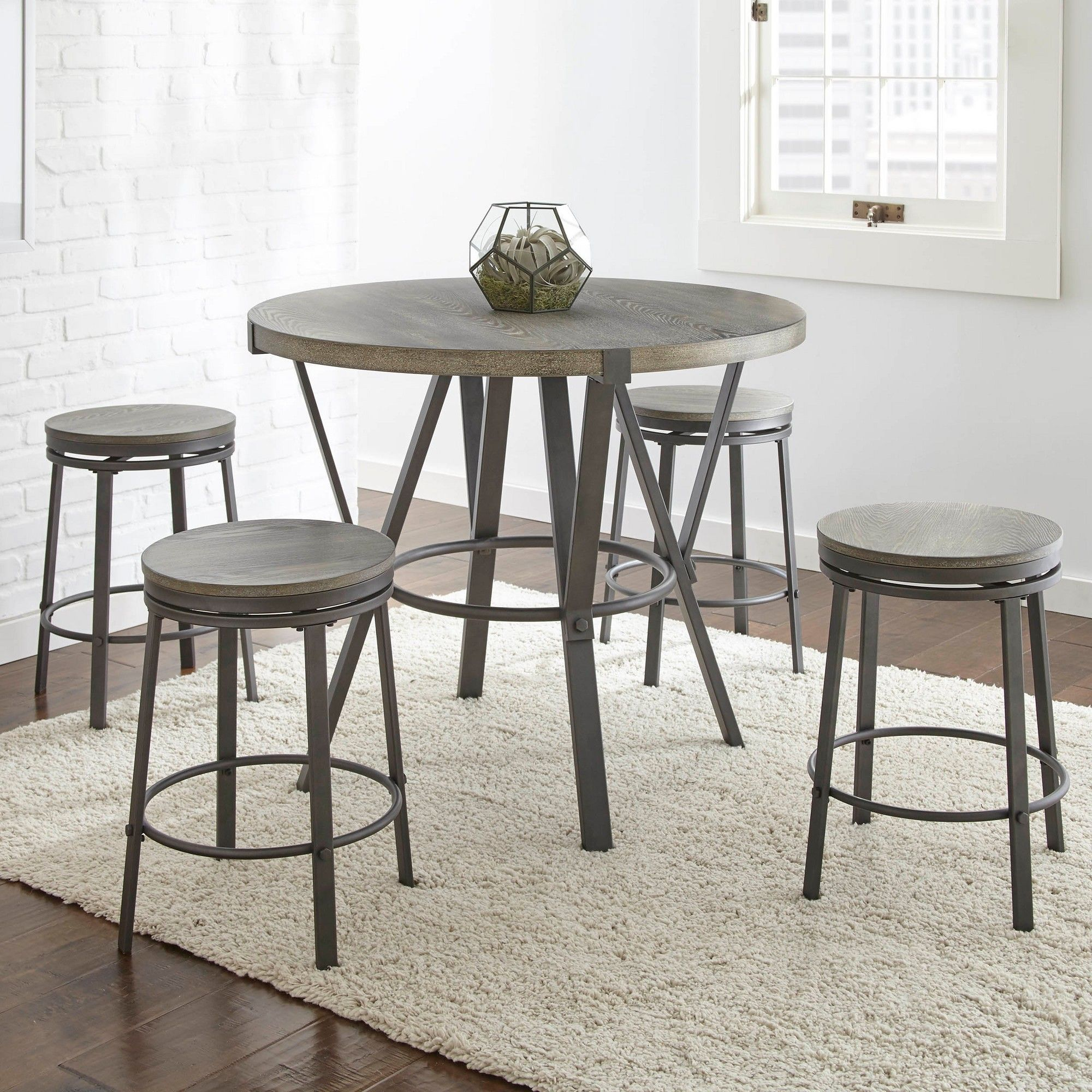 Portland Round Counter Table Gray