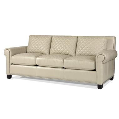 Century Quilted Leather Sofa Immediate Availability Living Room Leather Furniture Quilted Sofa