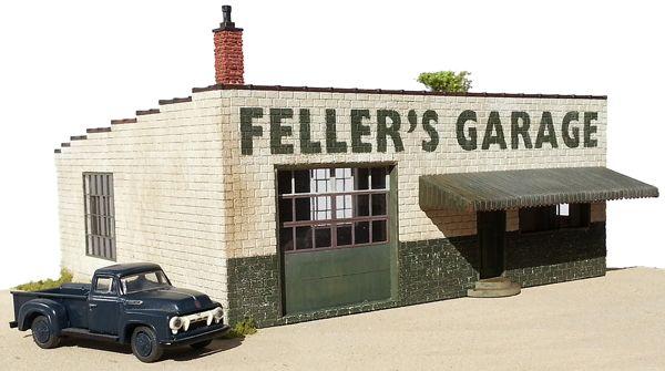 Feller's Garage - Monster Model Works | Craftsman Structures