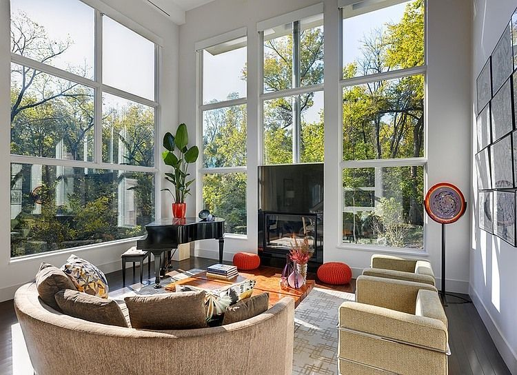 Set Within Window Wall: Modern Three Storey Home With. Fancy Living RoomsLiving  Room ... Part 24
