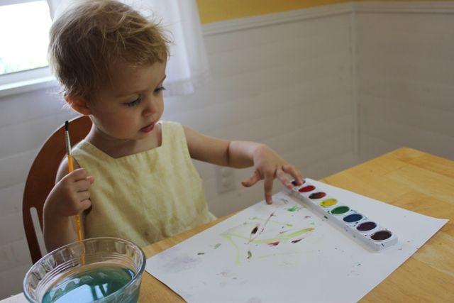 Slikanje z malčki