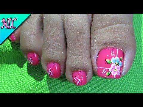 Decoracion De Unas Flores Para Pies Flowers Nail Art Como