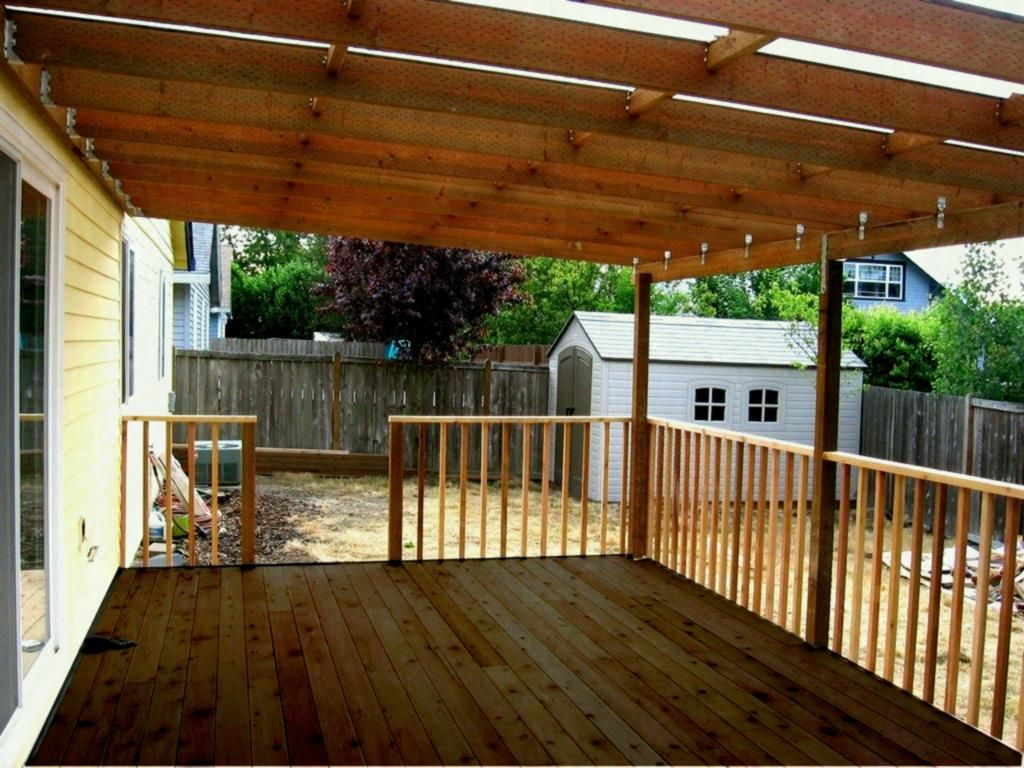 How To Build A Deck Roof Step By Wood Awning Over Diy ...