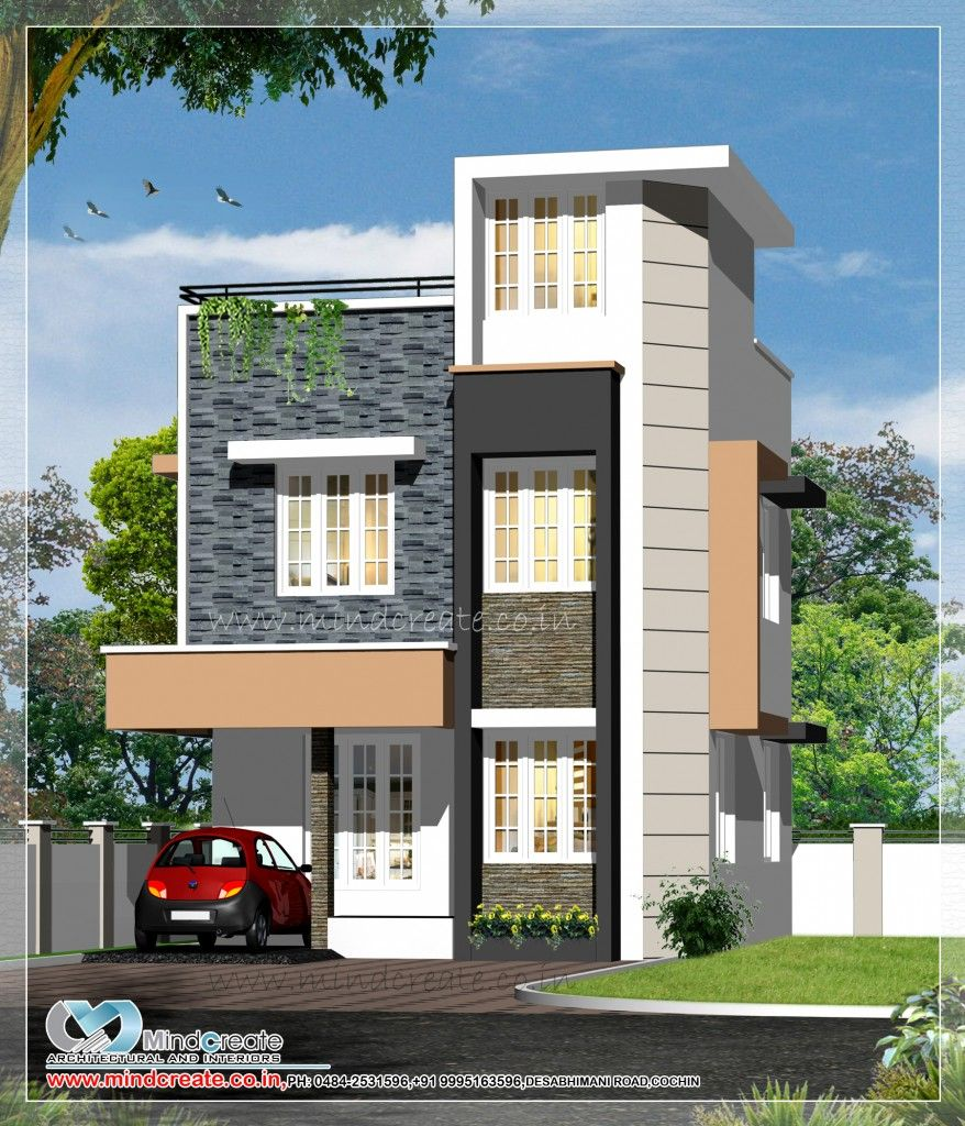 Kerala model house plans   House and home design. 1300 sqft  4 bedroom  contemporary  model  plan  Innovative design
