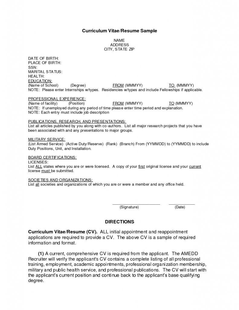 Job Resume Template Pdf Format Download Outstanding Application