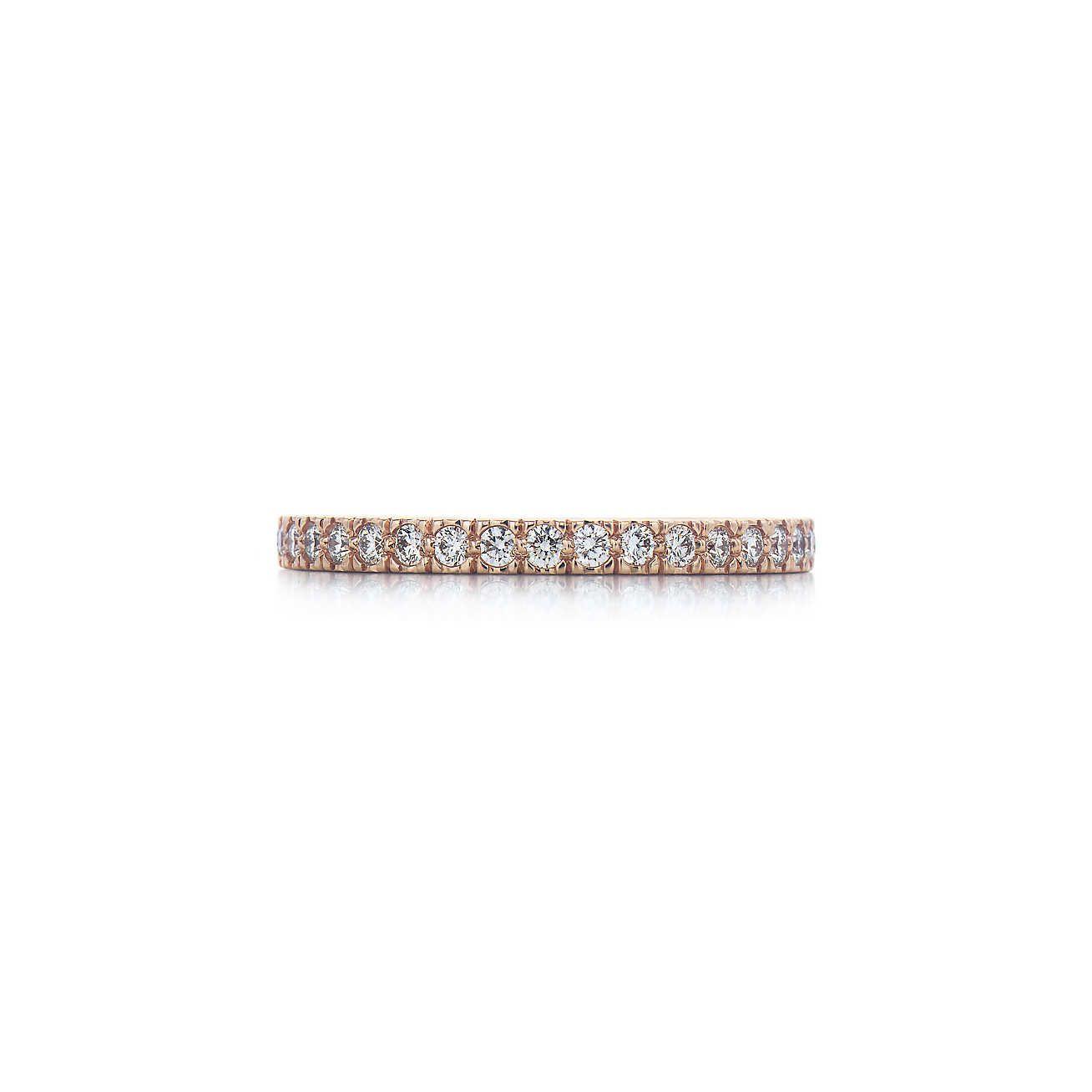 dd854a4de517b Tiffany Novo band ring with diamonds in 18k rose gold. Anillos De  Aniversario, Diamantes