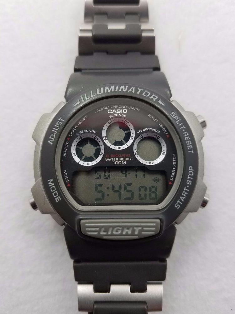Details about Casio Illuminator 1534 LIGHT Alarm Chronograph