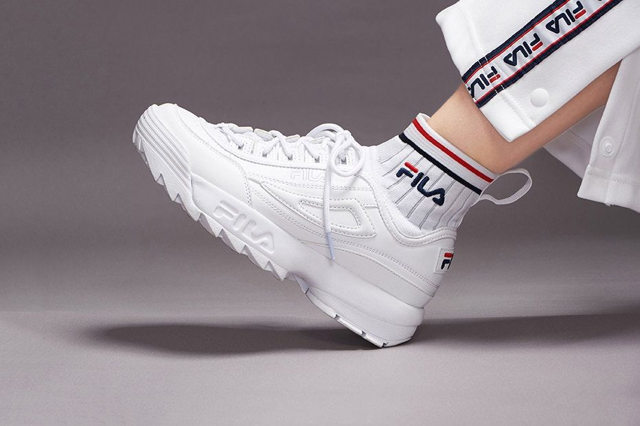 09aa0e0dda FILA Releases It's Sock Sneaker With The Disruptor EVO Sockfit ...