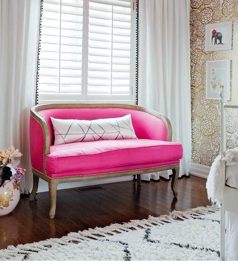 mädchen schlafzimmer reife glamourös und süß in pink