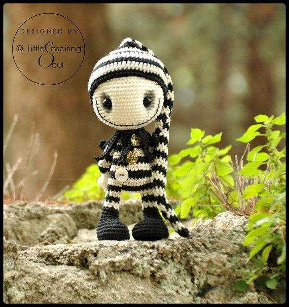 gothic doll  amigurumi  - PDF digital crochet pattern #crochetelements