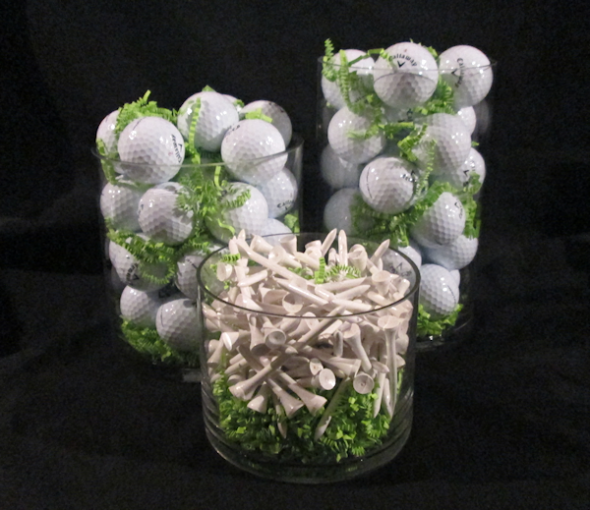 How to Make a Centerpiece for a Golf Themed Party Themed parties