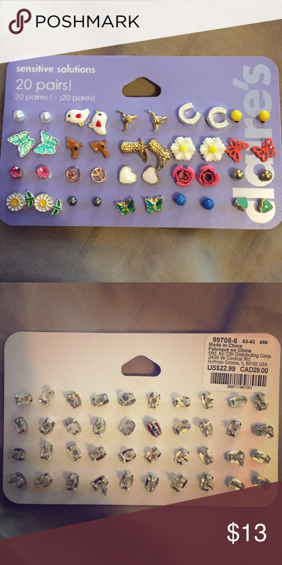 93d4fb5a7f02a Claire's Sensitive Solution Girl Earring 20 Pairs Brand new never ...