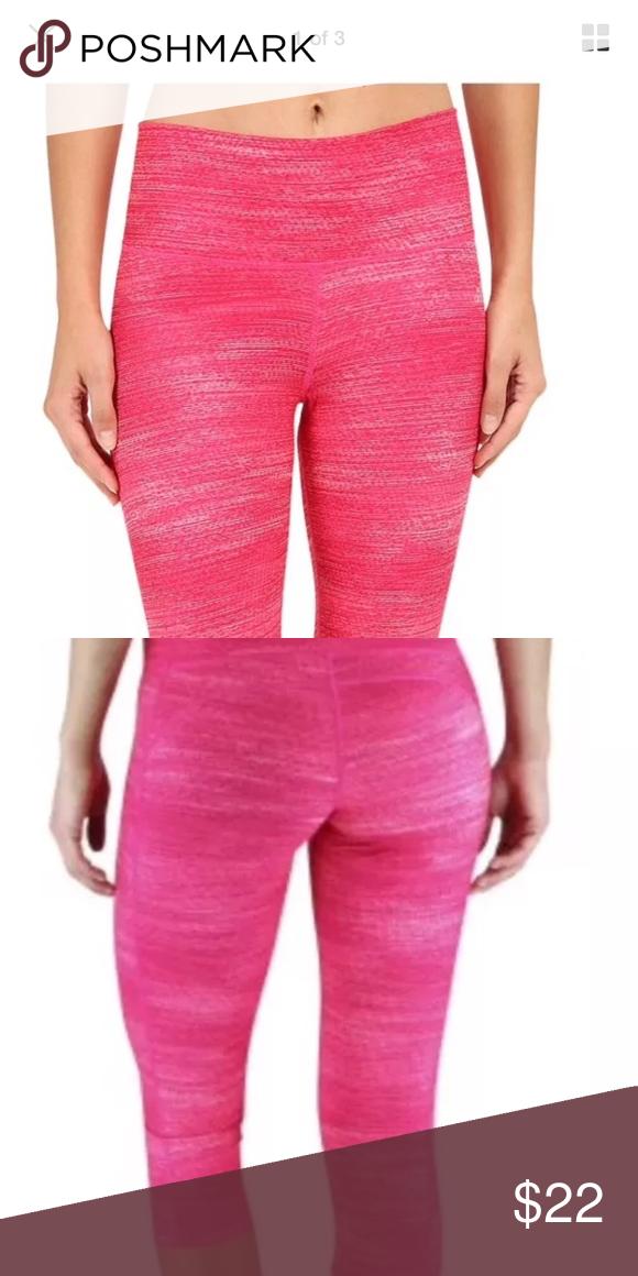 e14ebd4f50f Adidas women's performance mid rise 3/4 tight Excellent condition! Pink.  Medium adidas Pants Capris