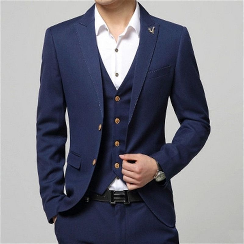 2018 Latest Coat Pant Designs Red Notched Lapel Formal Custom