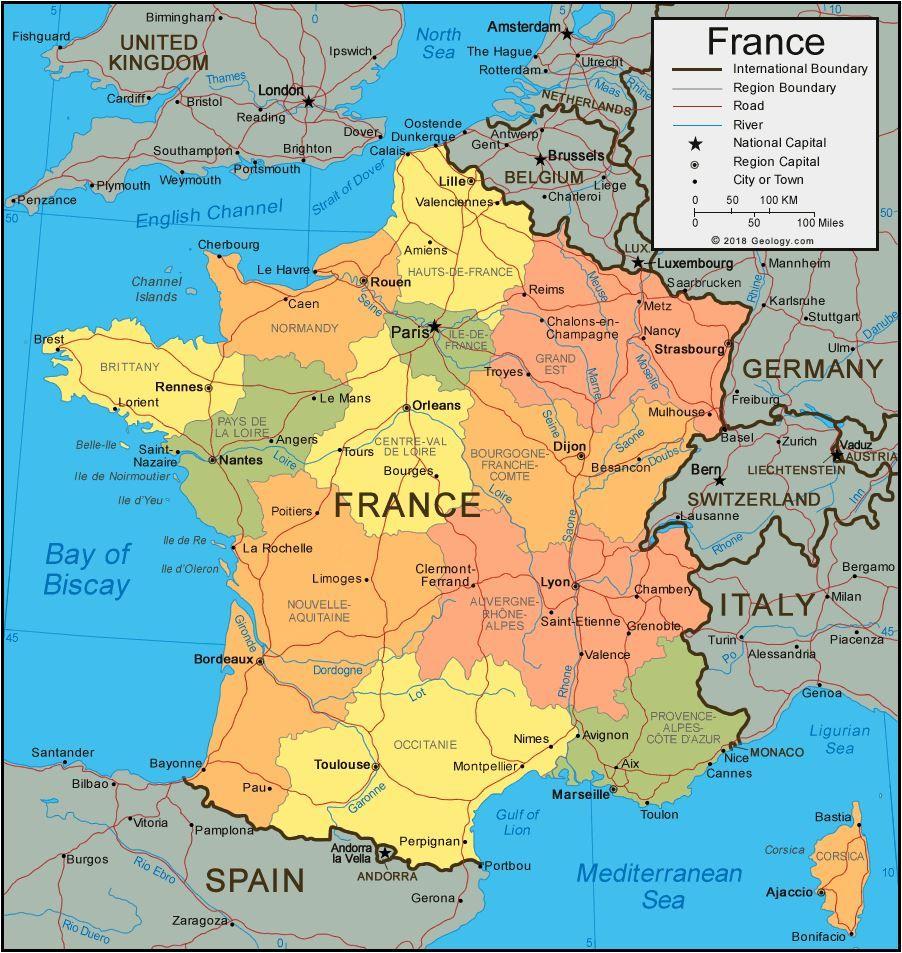 Map Of France In 2020 Frankreich Karte Geografie Frankreich