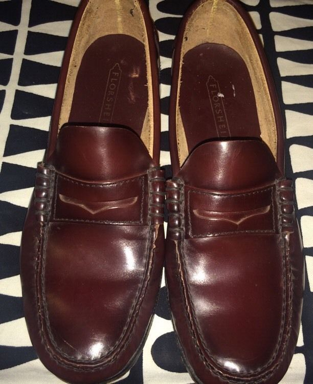 5994909ee31 Florsheim Mens 9.5 D Berkley Burgundy 17058-05 Penny Loafer Beef Roll Shoe  Dress  Florsheim  LoafersSlipOns