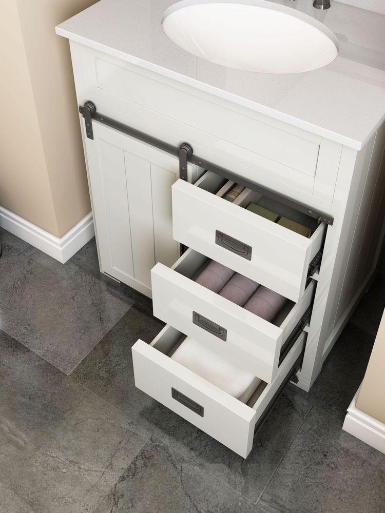 Style Selections Morriston 30 In White Single Sink Bathroom Vanity