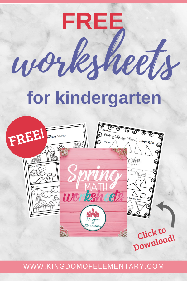 60 Free Elementary Math Worksheets In 2020 Spring Math Worksheets Free Kindergarten Worksheets Spring Math