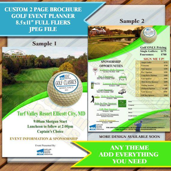 custom brochures 2 page brochure listing is for sample design