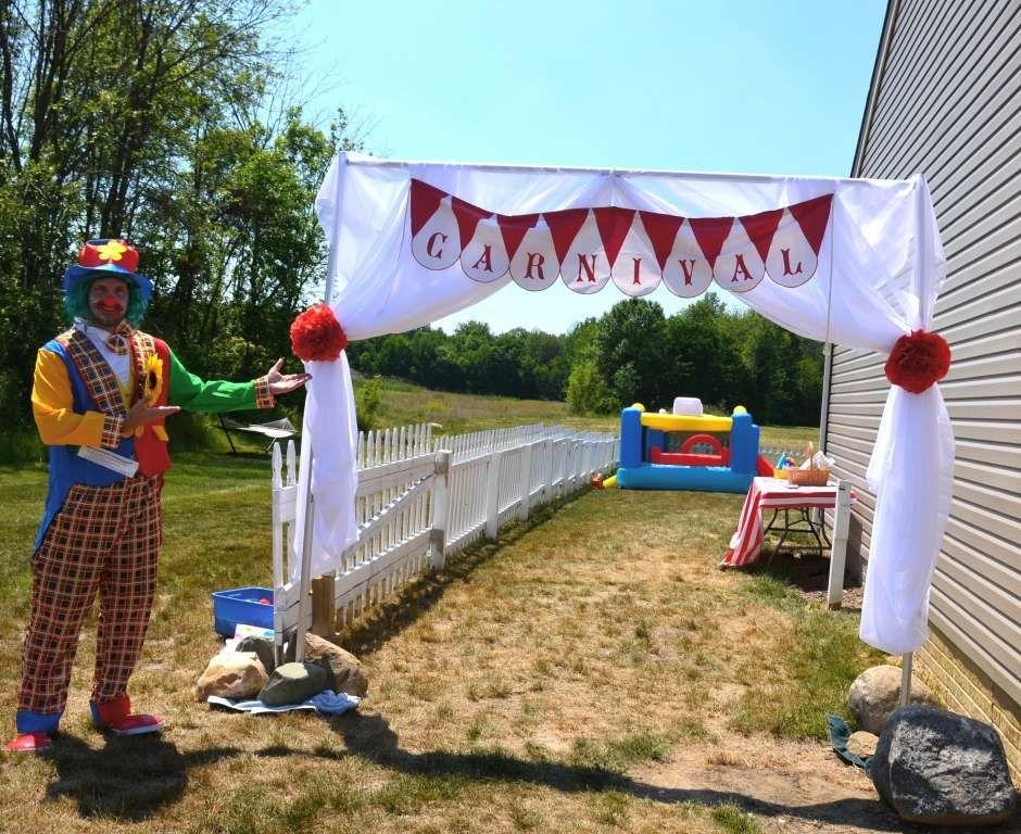Backyard Carnival with Vintage Twist Birthday Party Ideas ...