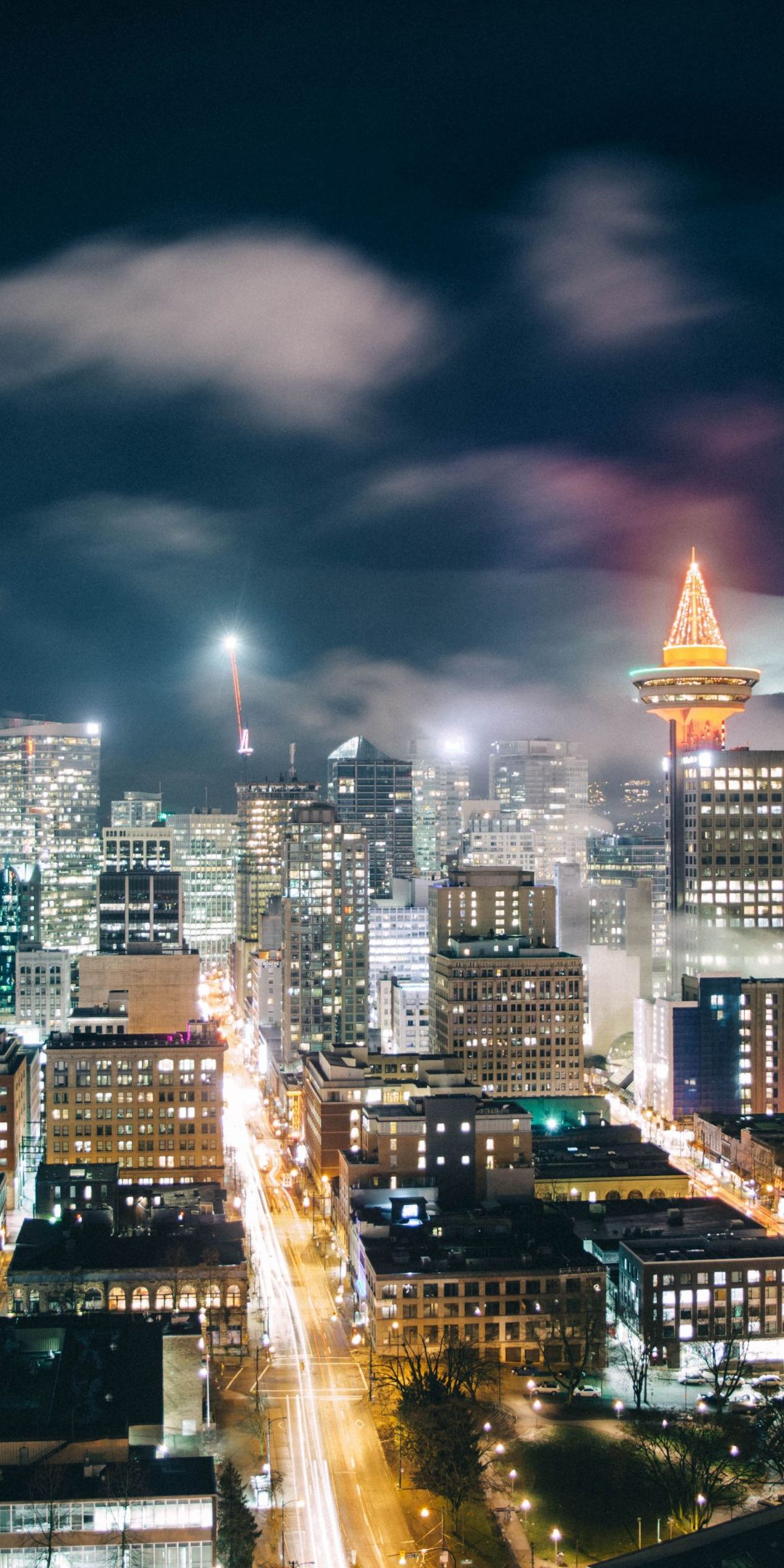 Canada, city, night, cityscape, Vancouver, 1080x2160 wallpaper | Cityscape wallpapers in 2019 ...