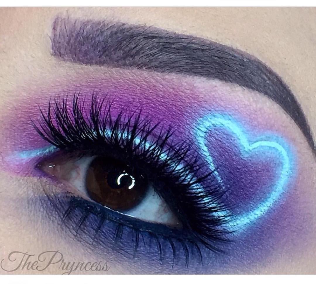 So Magnificent We Love Thepryncess S Neon Heart Eye Using