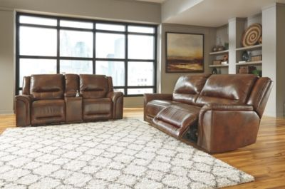 Jayron 5 Piece Living Room Set By Ashley Homestore Harness Leather