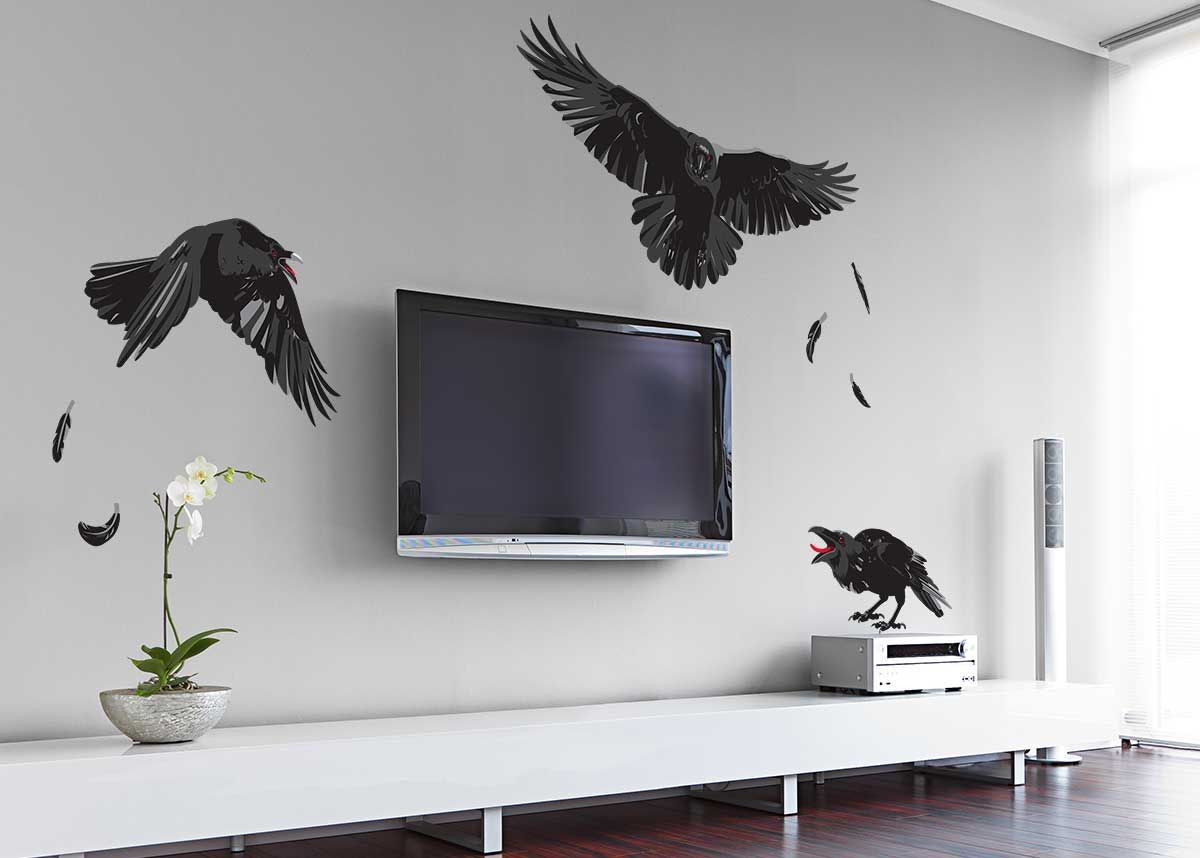 Midnight Ravens Halloween Wall Decal Halloween Wall