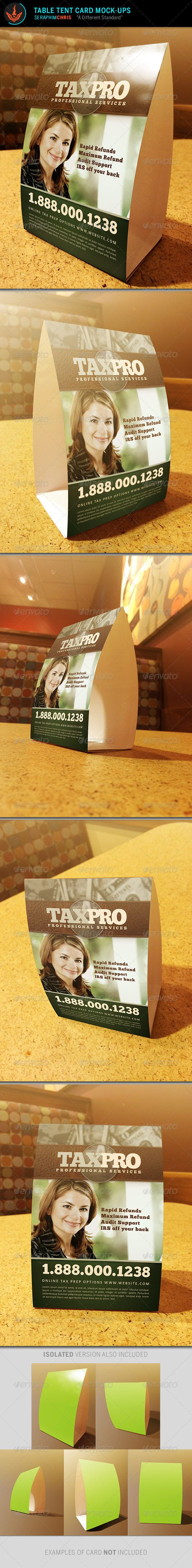 Table Tent Card Mock Up Templates : table tent psd - memphite.com