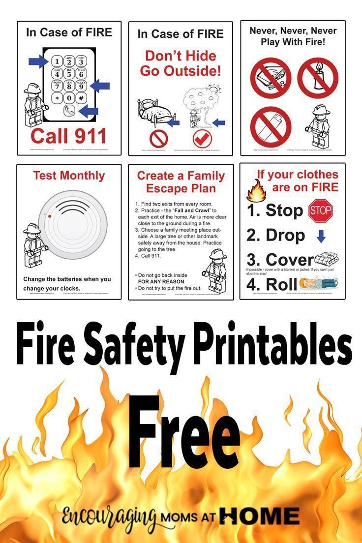 Free Fire Safety Posters with a LEGO Theme