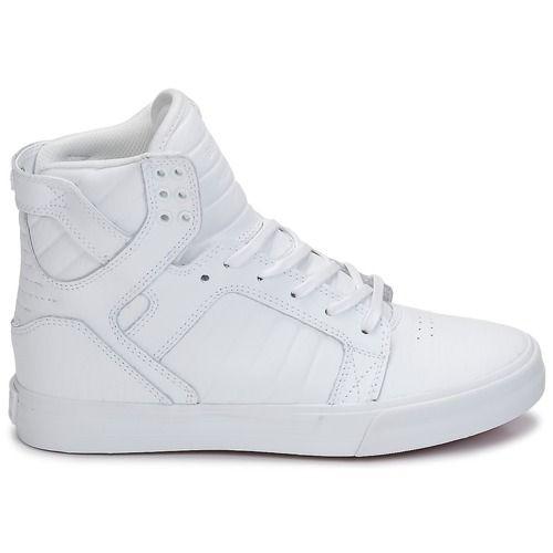 cc6906a737 Supra SKYTOP CLASSIC Άσπρο - Δωρεάν Αποστολή στο Spartoo.gr ! - Παπούτσια  Ψηλά Sneakers 123