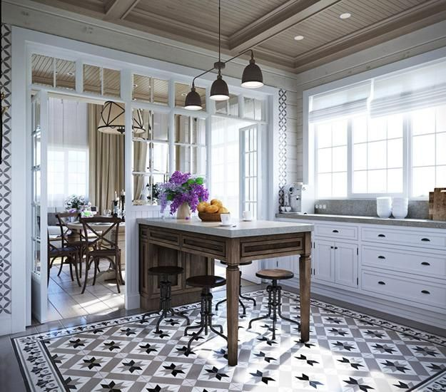 46 Fabulous Country Kitchen Designs Ideas: Comfortable Family Home Design, Cottage Decor In Neutral
