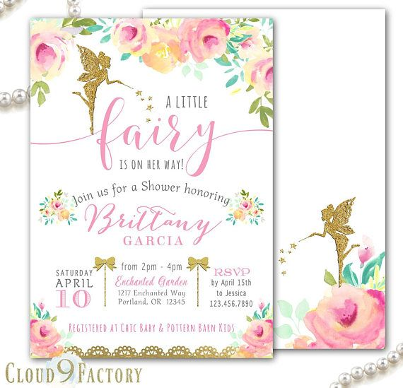 Fairy baby shower invitations fairy garden baby shower beautiful fairy baby shower invitations fairy garden baby shower filmwisefo Images