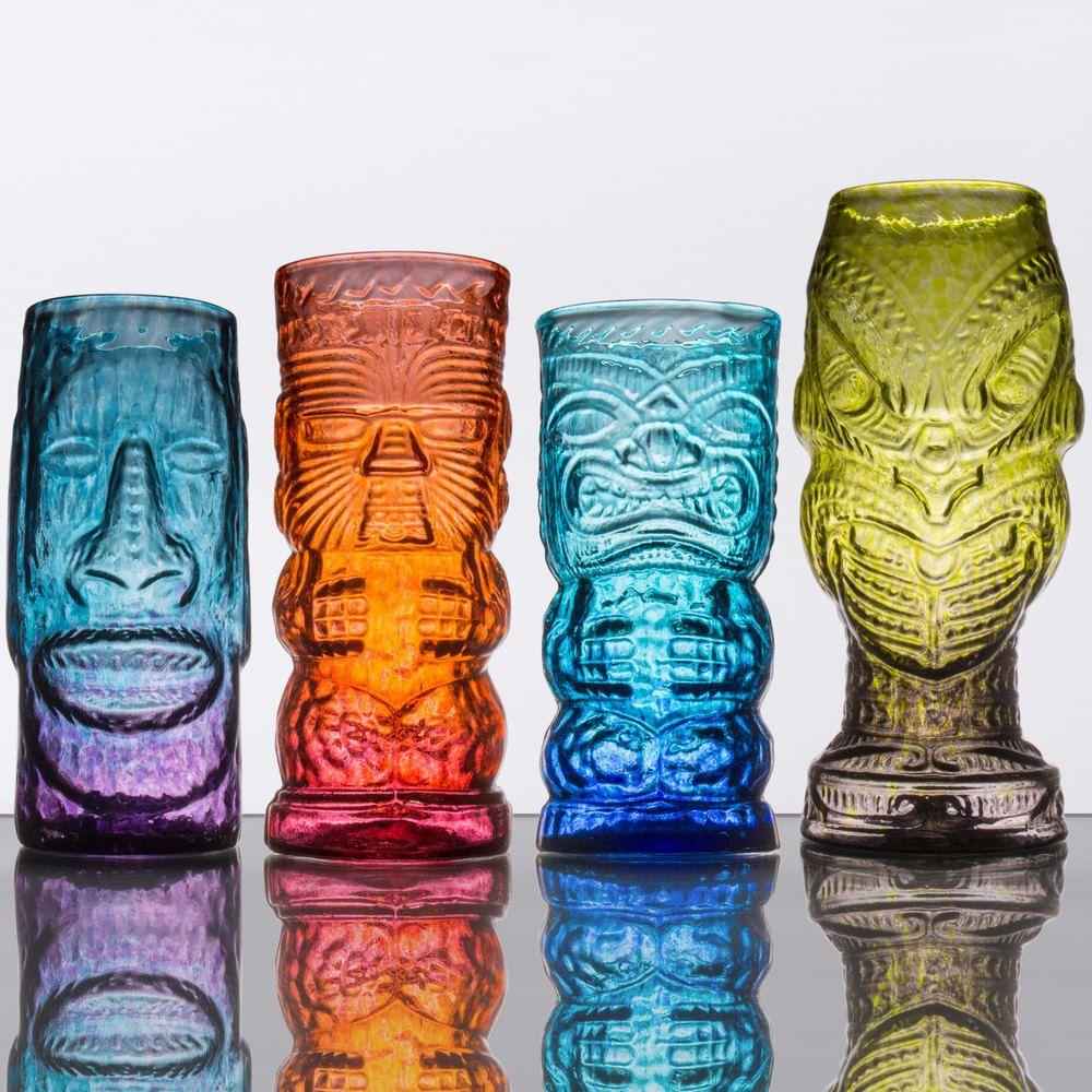Tropical Tiki Glass Mixed Set 4/Case Tiki glass, Tiki