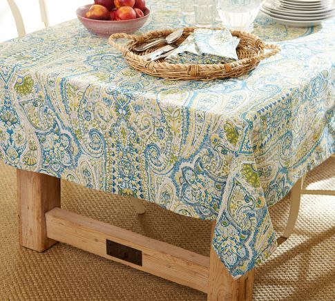 Rosalie Paisley Tablecloth | Pottery Barn