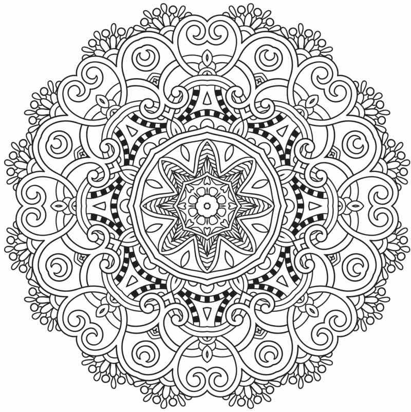 coloriage imprimer mandala compos d 39 arabesques et. Black Bedroom Furniture Sets. Home Design Ideas