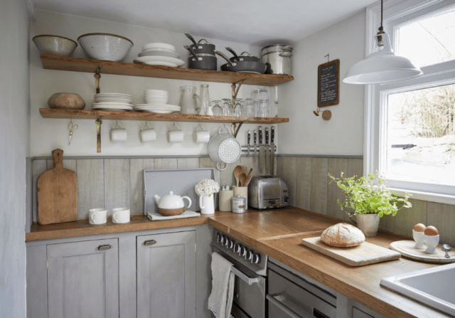 Rustic Blue Kitchen Small Kitchen Ideas Small Cottage Kitchen Small Kitchen Kitchen Remodel