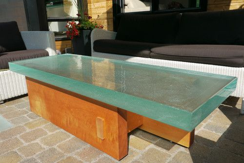 Thick Outside Gl Table Modern Coffee Tables